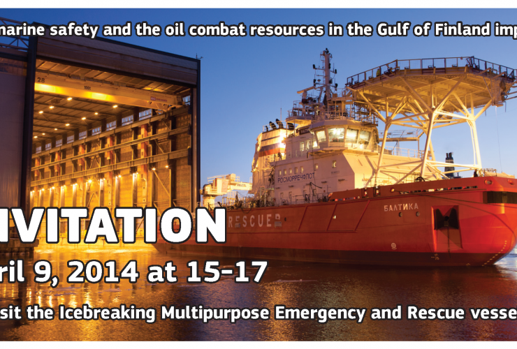 Icebreaking Multipurpose Emergency and Rescue vessel Baltika invitation April 9,  15 – 17